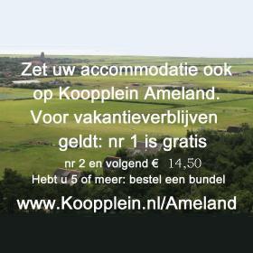 Zet uw accommodatie ook op Koopplein Ameland