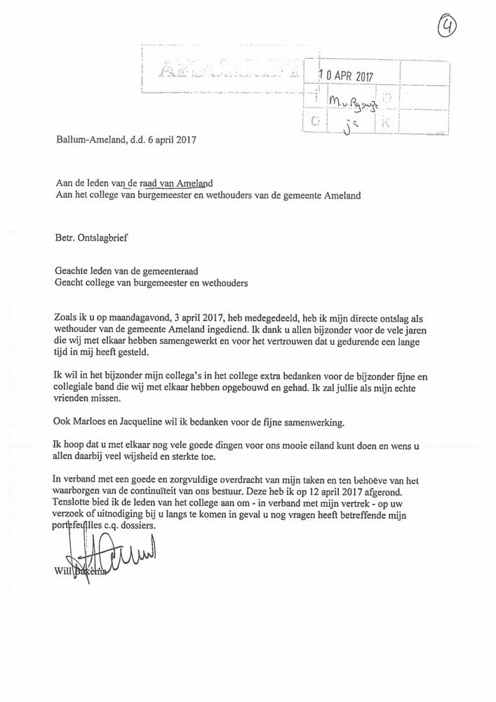 Wethouder Van der Deen bijna volle baan   Persbureau Ameland